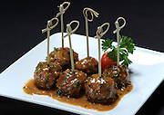 Mini Meatballs Au Pouvre in peppercorn cognac sauce served at Meridian Kitchen in Locust Valley, N.Y.