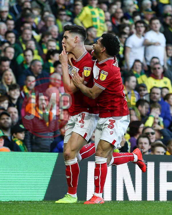 Callum O'Dowda of Bristol City celebrates scoring to make it 1-2 - Mandatory by-line: Arron Gent/JMP - 23/02/2019 - FOOTBALL - Carrow Road - Norwich, England - Norwich City v Bristol City - Sky Bet Championship