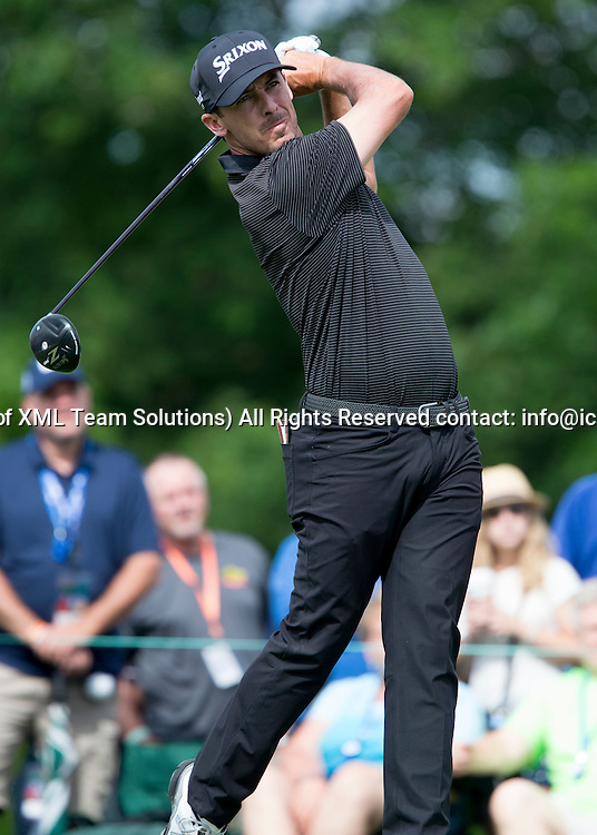 June 05 2016:  Dublin, OH, USA: Jon Curran teeing off during the Final Round of the Memorial Tournament presented by Nationwide at the Muirfield Village Golf Club. (Photo by Jason Mowry/Icon Sportwire)