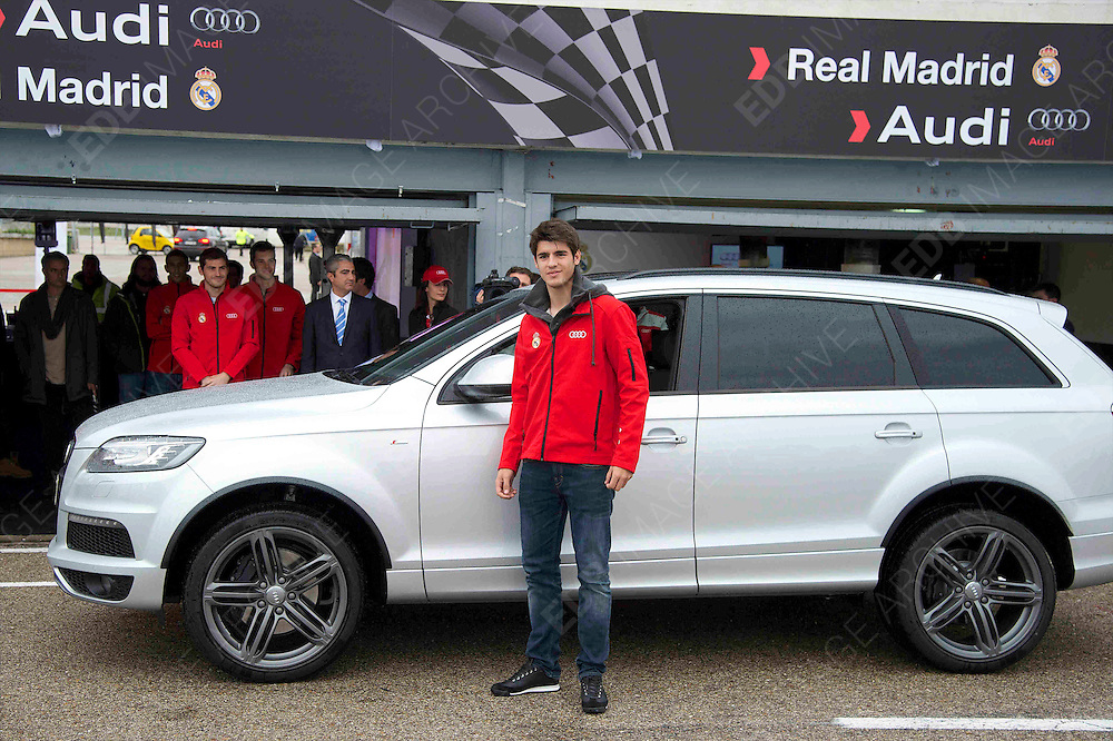 08.NOVEMBER.2012. MADRID<br /> <br /> THE PLAYERS OF REAL MADRID TEST NEW AUDI CARS FOR THE SEASON 2012-2013 ON THE JARAMA CIRCUIT.<br /> <br /> BYLINE: EDBIMAGEARCHIVE.CO.UK<br /> <br /> *THIS IMAGE IS STRICTLY FOR UK NEWSPAPERS AND MAGAZINES ONLY*<br /> *FOR WORLD WIDE SALES AND WEB USE PLEASE CONTACT EDBIMAGEARCHIVE - 0208 954 5968*