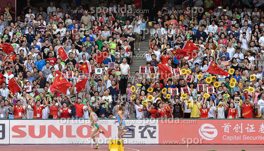 29-08-2015 CHN: IAAF World Championships Athletics day 7, Beijing<br /> Chinees supporters Photo by Ronald Hoogendoorn / Sportida