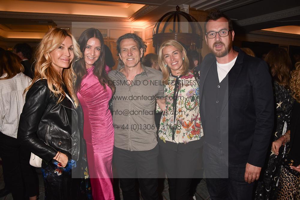 Left to right, Melissa Odabash, Lisa Snowdon, Stephen Webster, Assia Webster and Nick Hooper at the Fortnum & Mason Food and Drink Awards, Fortnum & Mason Food and Drink Awards, London, England. 10 May 2018.