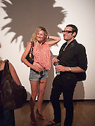 TIZER BAILEY; ALEX WOOD, Private view and Summer party to celebrate Haunch of Venison's exhibition. Joanna Vasconcelos; I will Survive and Polly Morgan: Psychopomps. Dover st. arts Club. 20 July 2010. -DO NOT ARCHIVE-© Copyright Photograph by Dafydd Jones. 248 Clapham Rd. London SW9 0PZ. Tel 0207 820 0771. www.dafjones.com.