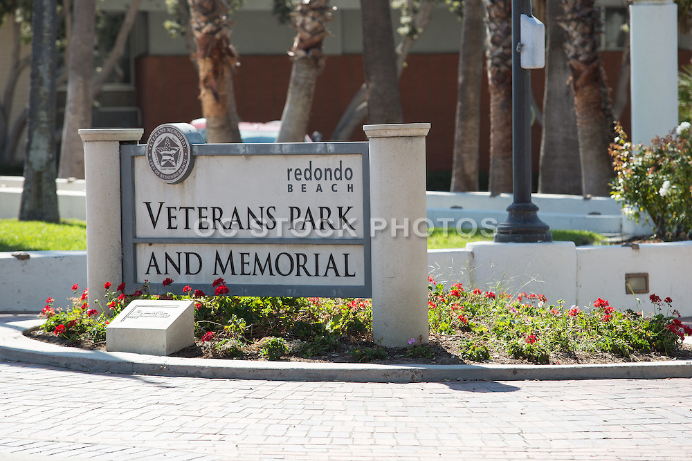 Veterans Park and Memorial at Redondo Beach Overlooking the Ocean