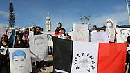 Estudiantes de la Universidad de El Salvador junto a organizaciones socialesprotestan NOV 20, 2014 en la Plaza Salvador del Mundo, San Salvador, El Salvador por la desaparicion de los Estudiantes Normalista Ayotzinapa, Mexico. El Salvador se unio a la jornada mundial en apoyo a la marcha de Mexico, DF. Photo: Edgar Romero/Imagenes Libres