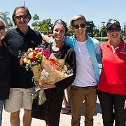 17 April 2016: The San Diego State women's waterpolo team took on #4 Arizona State University to close out their regular season. The Aztecs lost 9-3 to the Sun Devils at the SDSU Aquaplex.
