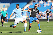 Brighton & Hove Albion's Sam Baldock and SS Lazio's Wesley Hoedt during the Pre-Season Friendly match between Brighton and Hove Albion and SS Lazio at the American Express Community Stadium, Brighton and Hove, England on 31 July 2016.