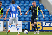 Carlisle United's Nicholas Adams on the attack during the EFL Sky Bet League 2 match between Colchester United and Carlisle United at the Weston Homes Community Stadium, Colchester, England on 14 October 2017. Photo by Phil Chaplin