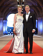 "CROWN PRINCE PHILIPPE AND PRINCESS MATHILDE OF BELGIUM.attend the gala farewell dinner for Queen Beatrix at the Rijksmuseum in Amsterdam, The Netherlands_April 29, 2013..Crown Prince Willem-Alexander and Crown Princess Maxima will be proclaimed King and Queen  of The Netherlands on the abdication of Queen Beatrix on 30th April 2013..Mandatory Credit Photos: ©Utrecht/NEWSPIX INTERNATIONAL..**ALL FEES PAYABLE TO: ""NEWSPIX INTERNATIONAL""**..PHOTO CREDIT MANDATORY!!: NEWSPIX INTERNATIONAL(Failure to credit will incur a surcharge of 100% of reproduction fees)..IMMEDIATE CONFIRMATION OF USAGE REQUIRED:.Newspix International, 31 Chinnery Hill, Bishop's Stortford, ENGLAND CM23 3PS.Tel:+441279 324672  ; Fax: +441279656877.Mobile:  0777568 1153.e-mail: info@newspixinternational.co.uk"