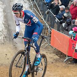 28-01-2017: Wielrennen: Wereldkampioenschap veldrijden: Luxemburg<br /> BIELES (LUX) cyclocross: Ben Tullet wint de bronzene medaille
