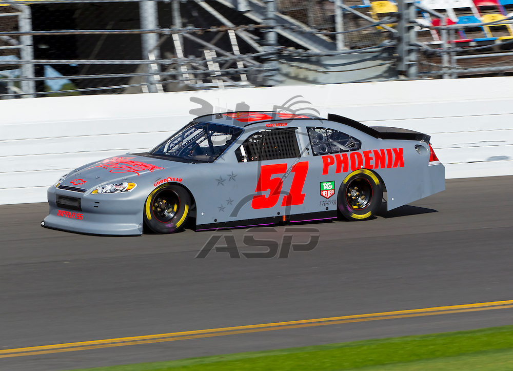 12 January, 2012:   Kurt Busch (51) brings his Phoenix Chevrolet down the front stretch during open testing for the NASCAR Sprint Cup Series at the Daytona International Speedway in Daytona Beach, FL.