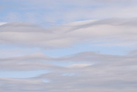 Clouds create interesting textures in the sky.