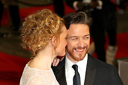 © London News Pictures. Anne-Marie Duff, James McAvoy, EE British Academy Film Awards (BAFTAs), Royal Opera House Covent Garden, London UK, 08 February 2015, Photo by Richard Goldschmidt /LNP
