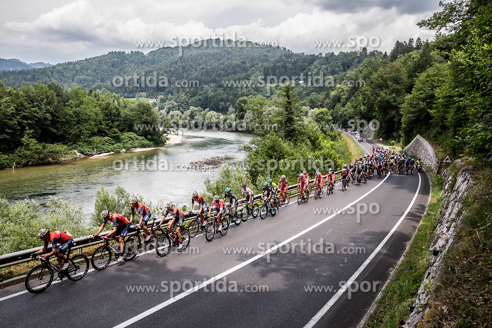 Peloton near Litija during Stage 2 of 24th Tour of Slovenia 2017 / Tour de Slovenie from Ljubljana to Ljubljana (169,9 km) cycling race on June 16, 2017 in Slovenia. Photo by Vid Ponikvar / Sportida