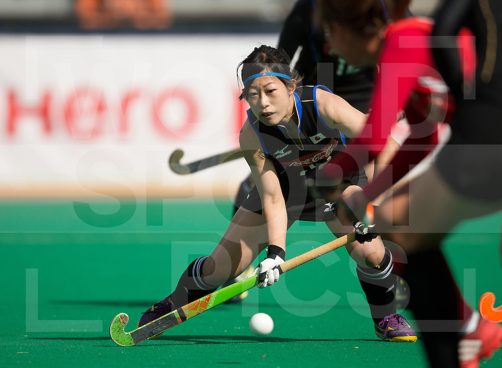 Hockey Womens World league Semi Finals Rotterdam 2013<br /> Japan v Korea 16062013<br /> Akane Shibata goals for Japan<br /> <br /> Photo: Grant Treeby / treebyimages
