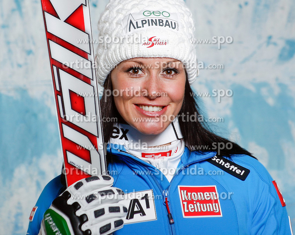 20.10.2012, Messehalle, Innsbruck, AUT, OeSV, Ski Alpin, Fototermin, im Bild Stefanie Koehle (OeSV, Skirennlaeuferin) // during the official Portrait and Teamshooting of the Austrian Ski Federation (OeSV) at the Messehalle, Innsbruck, Austria on 2012/10/20. EXPA Pictures © 2012, PhotoCredit: EXPA/ OeSV/ Erich Spiess