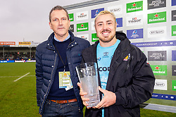 Jack Nowell of Exeter Chiefs receives the Heineken Man of the Match - Mandatory by-line: Ryan Hiscott/JMP - 13/01/2019 - RUGBY - Sandy Park Stadium - Exeter, England - Exeter Chiefs v Castres - Heineken Champions Cup