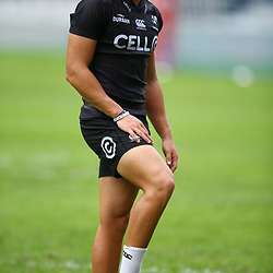 DURBAN, SOUTH AFRICA - MARCH 02: Curwin Bosch of the Cell C Sharks during the Cell C Sharks captains run at Growthpoint Kings Park on March 02, 2018 in Durban, South Africa. (Photo by Steve Haag/Gallo Images)