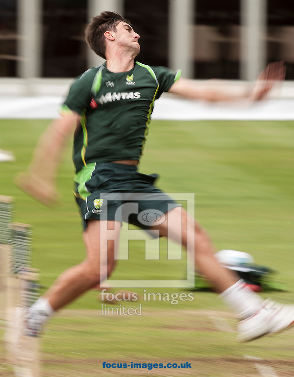 Mitchell Starc during the Australia Cricket Practice at Lord's, London.<br /> Picture by Jack Megaw/Focus Images Ltd +44 7481 764811<br /> 15/07/2015