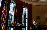19.MARCH.2012. WASHINGTON D.C<br /> <br /> PRESIDENT BARACK OBAMA TALKS ON THE PHONE WITH PALESTINIAN AUTHORITY PRESIDENT MAHMOUD ABBAS IN THE OVAL OFFICE, MARCH 19, 2012.  <br /> <br /> BYLINE: EDBIMAGEARCHIVE.COM<br /> <br /> *THIS IMAGE IS STRICTLY FOR UK NEWSPAPERS AND MAGAZINES ONLY*<br /> *FOR WORLD WIDE SALES AND WEB USE PLEASE CONTACT EDBIMAGEARCHIVE - 0208 954 5968*