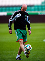 29/07/14<br /> LEGIA WARSAW TRAINING<br /> PEPSI ARENA - WARSAW<br /> Legia Warsaw manager Henning Berg gets on the ball during training