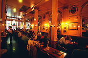 Brussels, Belgium. La Mort Subite, the city's most famous beer restaurant.