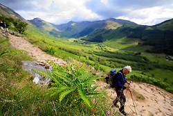 UK SCOTLAND BEN NEVIS 14JUN08 - Hikers ascend the foothills of Ben Nevis at the beginning of the Three Peaks Challenge Event in the Scottish Highlands...jre/Photo by Jiri Rezac ..© Jiri Rezac 2008..Contact: +44 (0) 7050 110 417.Mobile:  +44 (0) 7801 337 683.Office:  +44 (0) 20 8968 9635..Email:   jiri@jirirezac.com.Web:    www.jirirezac.com..© All images Jiri Rezac 2008 - All rights reserved.
