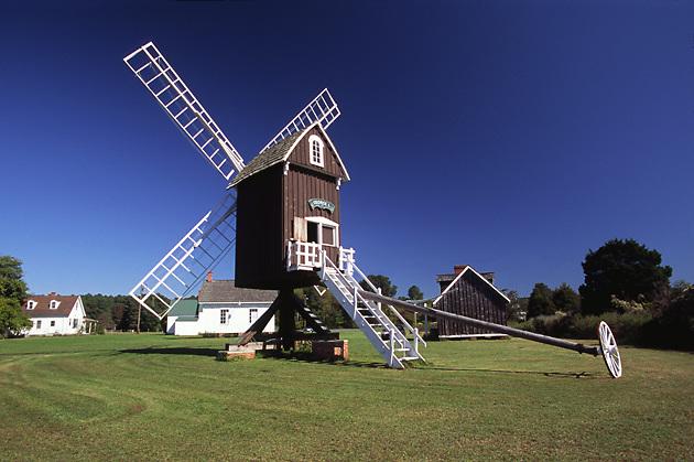 Spocott Windmill,  English style post design, historic buildings
