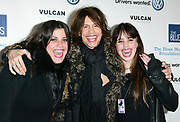 NEW YORK - FEBRUARY 7: Mia Tyler, Steven Tyler and Chelsea Tyler attend the Salute to the Blues Concert at Radio City , February 7, 2003 in New York City.   (Photo by Matthew Peyton)