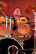Drummer Buster Birch from the Deirdre Cartwright group during a performance in 2008 in the frontroom of the Southbank center in London.