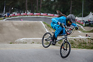 #342 (ORDONEZ URBANO Laura Tatiana) COL at Round 6 of the 2018 UCI BMX Superscross World Cup in Zolder, Belgium