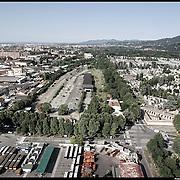 Nella foto: scalo Vanchiglia Reportage fotografico aereo di bassa quota per l'importante progetto di trasformazione urbana Variante n. 200 al P.R.G. inerente la Linea 2 Metropolitana e Quadrante Nord-Est di Torino: Barriera di Milano, Rebaudengo, Falchera, Regio Parco, Barca e Bertolla.