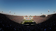 Fans fill the seats at Los Angeles Memorial Coliseum during a preseason NFL football game between the Los Angeles Rams and the Dallas Cowboys, Saturday, Aug. 13, 2016, in Los Angeles. (AP Photo/Ryan Kang)