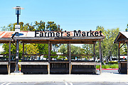 Closed Farmers Market Stands at the South Coast Collection