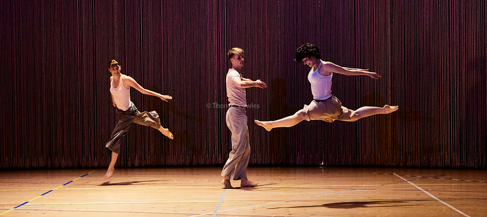 London, UK.12th June  2017.  Anne Teresa De Keersmaeker world renowned Dance Company, Rosas  present Rain, returning to  Sadler's Wells.<br /> <br /> Performed by <br /> <br /> Laura Bachman<br /> Lea Dubois<br /> Anika Edstrom<br /> Kawaji <br /> Zoi Efstathiou<br /> Yuika Hashimoto<br /> Laura Maria Poletti, <br /> Soa Ratsifandrihana<br /> Frank Gizycki<br /> Robin Haghi <br /> Lav Crbcevic<br /> Thomas Vantuycom