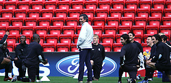 LIVERPOOL, ENGLAND. MONDAY, MAY 2nd, 2005: Chelsea's manager Jose 'Maureen' Mourinho training ahead of his side's UEFA Champions League Semi Final 2nd Leg against four times European Cup winners Liverpool at Anfield. (Pic by David Rawcliffe/Propaganda)