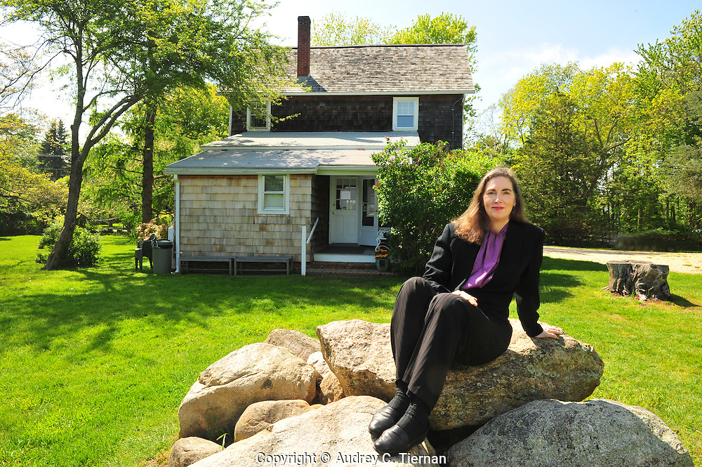 Springs, NY: Saturday, May 21, 2011-- Baruch College's Distinguished Professor of Art History Gail Levin at the Pollock-Krasner House.  Levin has just published a biography about Lee Krasner.  © Audrey C. Tiernan