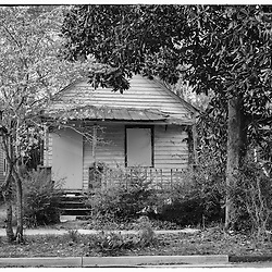 This little shotgun house has yet to be bought and restored while the rest of the house on the block have.