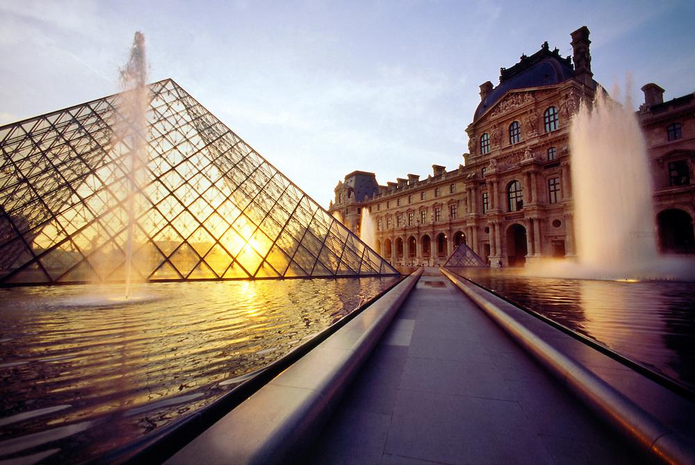 Pyramid at the Louvre Musueum, Paris, France