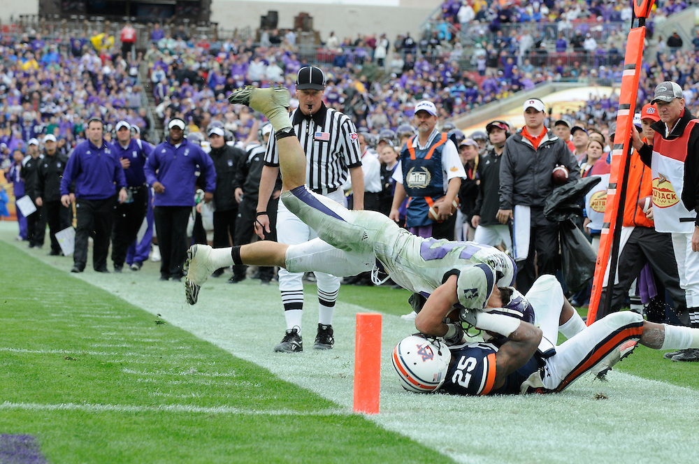 January 1, 2010: Auburn Tigers 38, Northwestern Wildcats 35. 2010 Outback Bowl