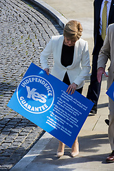Deputy First Minister Nicola Sturgeon joined Yes Scotland chief executive Blair Jenkins and volunteers as they unveiled a new initiative for the final 100 days of the referendum campaign.June 2014 (c) GER HARLEY | StockPix.eu