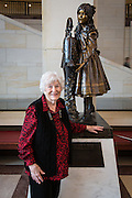 Cathy Long at the statue of Helen Keller; Tour of the U.S. Capitol on Cathy Long's birthday