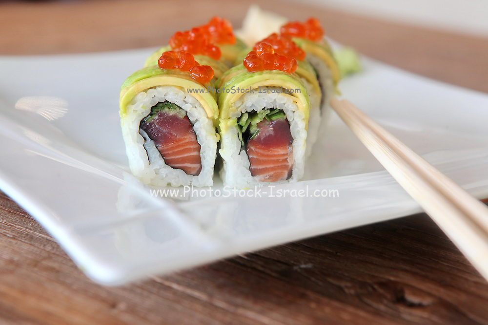 Tuna Inside out Sushi with caviar