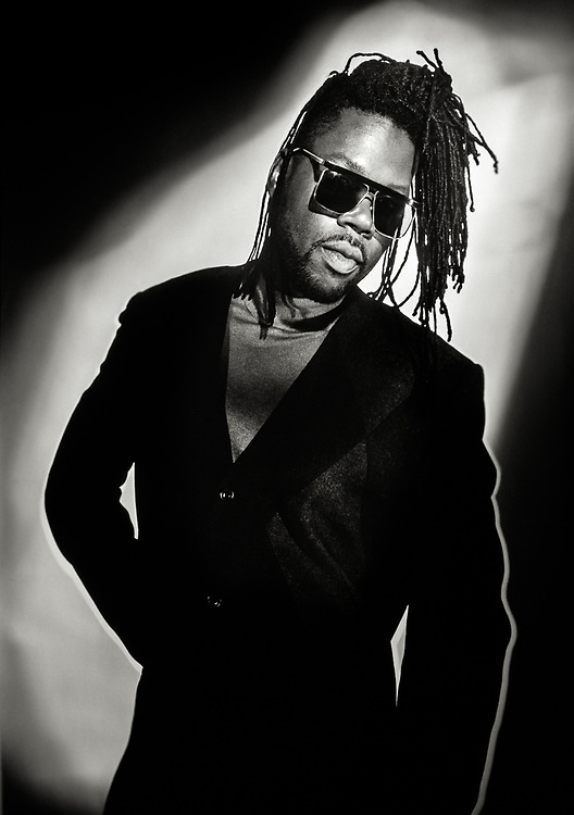 Jazzy B of Soul II Soul, photographed at the Soul II Soul studios in Islington, North London.