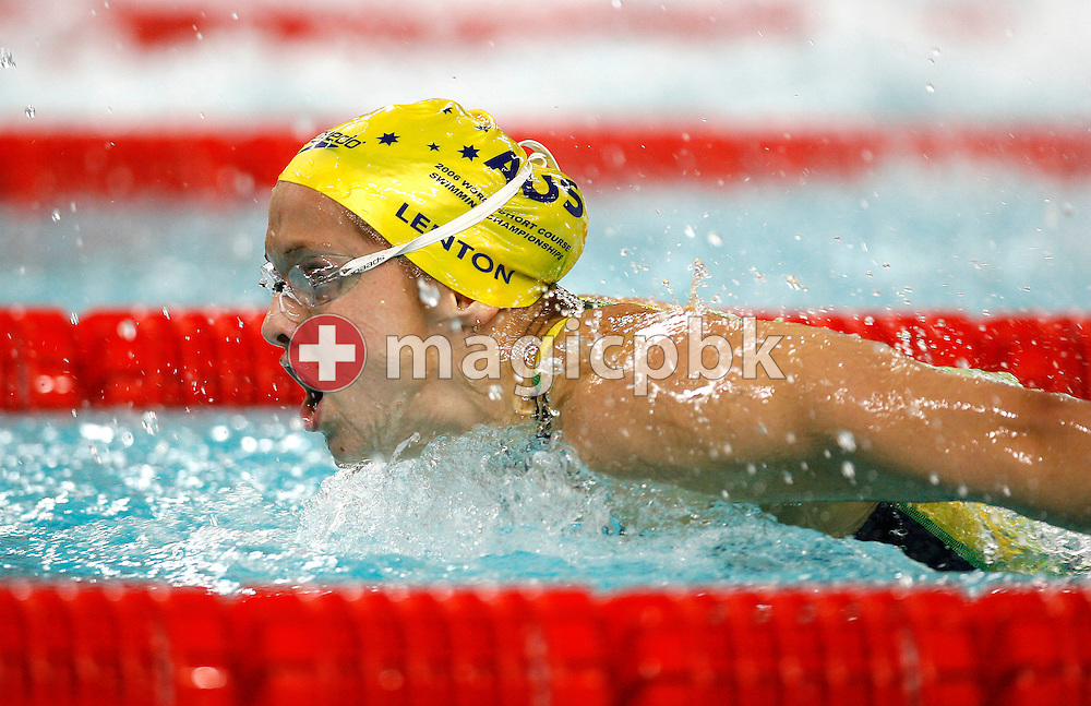 Lisbeth LENTON of Australia competes in the women's 100m Butterfly Semifinal during day four of the 8th FINA World Swimming Championships (25m) held at Qi Zhong Stadium April 8, 2006 in Shanghai, China. (Photo by Patrick B. Kraemer / MAGICPBK)