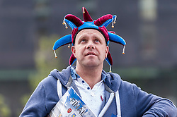 © Licensed to London News Pictures. 30/05/2015. London, UK. As Aston Villa fan waits to enter the stadium, as fans gather at Wembley Stadium for the FA Cup Final 2015, between Arsenal and Aston Villa. Photo credit : Stephen Chung/LNP