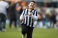 Football - 2016 / 2017 FA Cup - Fifth Round: Millwall vs. Leicester City <br /> <br /> Fans invade the pitch at the final whistle to celebrate with their team at The Den<br /> <br /> COLORSPORT/DANIEL BEARHAM
