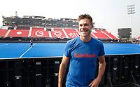BHUBANESWAR (INDIA) - Het Nederlands heren hockeyteam trainde vanmiddag voor de kwartfinale wedstrijd tegen India bij het WK hockey. Sander de Wijn is gisteren geblesseerd geraakt  en zal dit toernooi niet meer in actie komen. COPYRIGHT KOEN SUYK