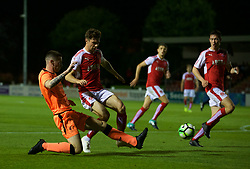 LEYLAND, ENGLAND - Friday, September 1, 2017: Liverpool's Corey Whelan during the Lancashire Senior Cup Final match between Fleetwood Town and Liverpool Under-23's at the County Ground. (Pic by Propaganda)