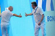 referees <br /> ITA - GRE Italy (white caps) vs. Greece (blue caps) <br /> Barcelona 15/07/2018 Piscines Bernat Picornell <br /> Women qualification<br /> 33rd LEN European Water Polo Championships - Barcelona 2018 <br /> Photo Andrea Staccioli/Deepbluemedia/Insidefoto